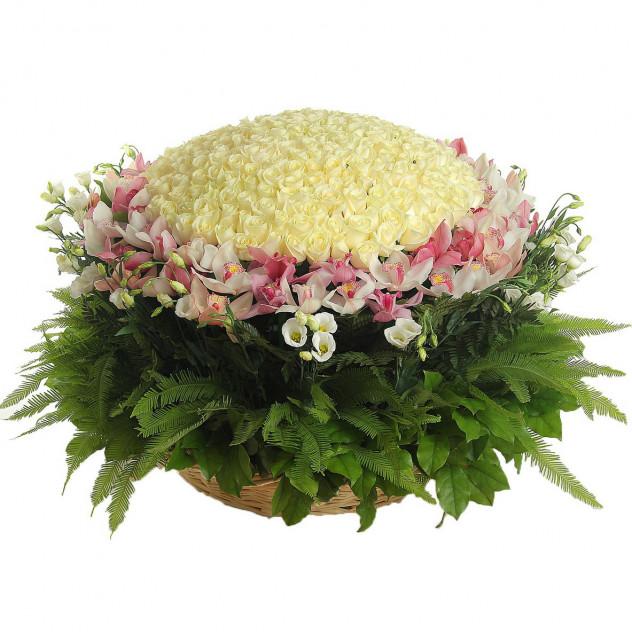 Корзина с цветами № 2
